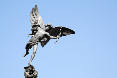 greek gods: Eros Cupid statue of Piccadilly Circus, London England UK Stock Photo