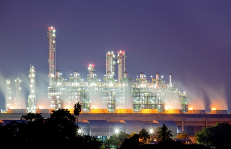 Oil Refinery plant with Power generator at dusk Stock Photo - 15902860