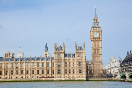 landscape of big ben at city westminster London England UK photo