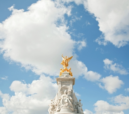 buckingham palace: Queen Victoria Memorial at Buckingham Palace with Square Composition, London England UK Editorial