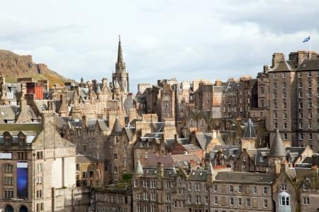 Edinburgh Skylines building Scotland UK from Monument Stock Photo