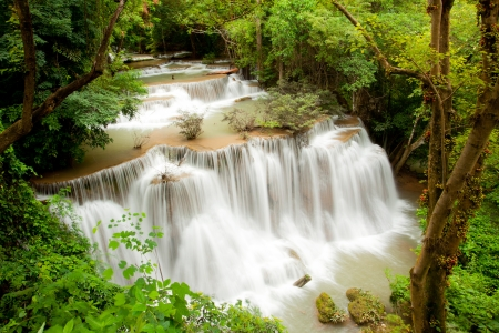 Tropical Climate Waterfall in National Park Thailand photo