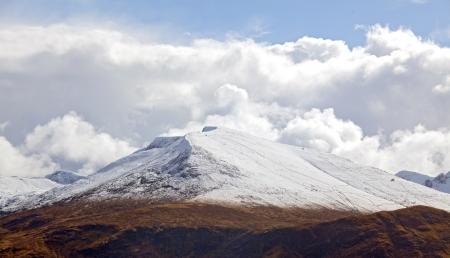Panorama of Snow Mountain Range Landscape Highland Scotland UK Stock Photo - 16386112