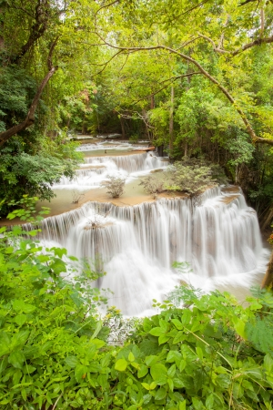 Part of Tropical Rain forest waterfall in National Park in Thailand photo