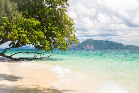 Beautiful tropical white sand beach at Trang andaman sea Thailand Stock Photo - 17162629