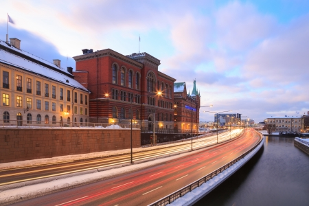 Gamla Stan Highway to Stockholm City at dusk Sweden photo