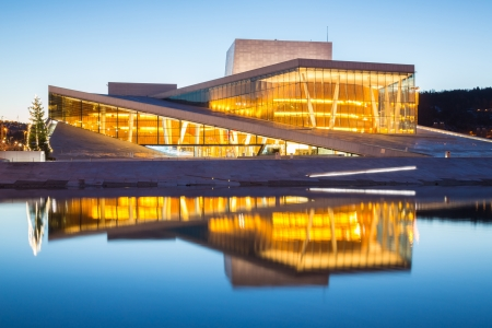 Oslo Opera House shine at dusk, morning twilight,  Norway Stock Photo - 17261526