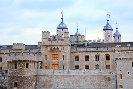 neo gothic: Tower of London at dusk, England United Kingdom