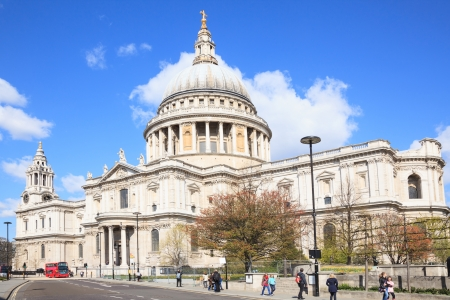 St. Paul Cathedral with London Bus England United Kingdom Stock Photo - 17288974