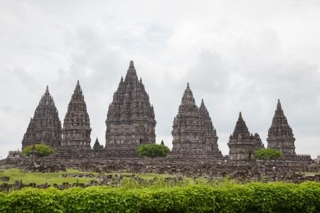 jogjakarta: Architecture of Ancient Prambanan Temple Ruin, Yogyakarta, Java, Indonesia.