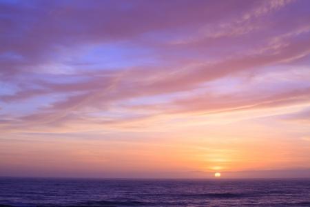 viewpoints: Sunset sky at Pancake Rock Coastal line at Punakaiki New Zeland