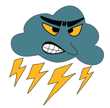 Thunderbolt Storm Icon for Weather forecast Stock Vector - 17645019