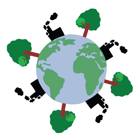 enviroment: World Pollution for Enviroment Concept