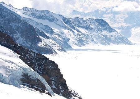 aletsch: Great Aletsch Glacier Jungfrau Switzerland