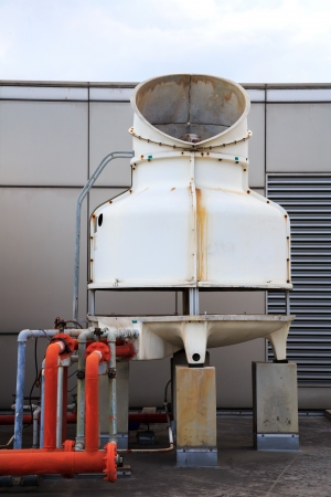 Big Pipeline to cooling system fan of Building photo