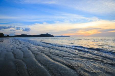 similan islands: Sunset at Andaman Beach coast in Surin Island National Park Phuket Thailand