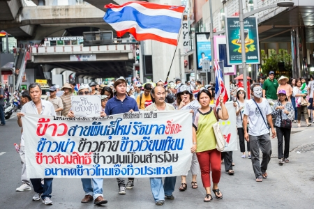 guy fawkes: BANGKOK,THAILAND- JUNE 30 : Unidentified protesters, V for Thailand group, wear Guy Fawkes masks to protest government corruption on June 30,2013 in Bangkok,Thailand.