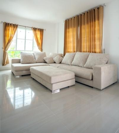modern architecture contemporary, interior, large livingroom photo