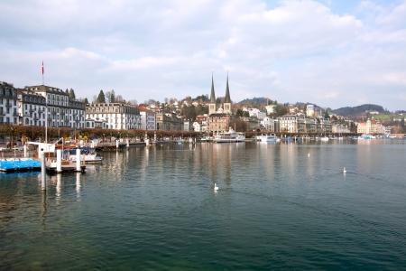 lucerne: Landscape of Lucern Lake, Switzerland