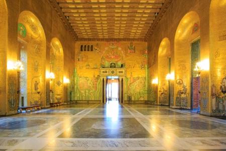 castle interior: Architecture Stockholm City Hall ballroom Interior Sweden