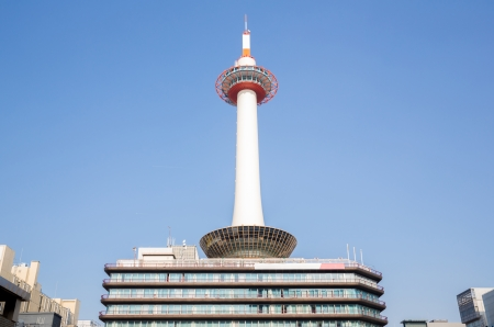 Kyoto tower  at downtown japan