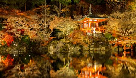 Panorama Daigoji Temple Shingon Buddhist temple at night in daigo Kyoto Japan