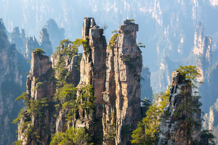 Zhangjiajie National forest park at Wulingyuan Hunan China Stock Photo