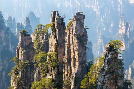 hunan: Zhangjiajie National forest park at Wulingyuan Hunan China Stock Photo