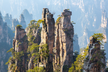 Zhangjiajie National forest park at Wulingyuan Hunan China Stok Fotoğraf