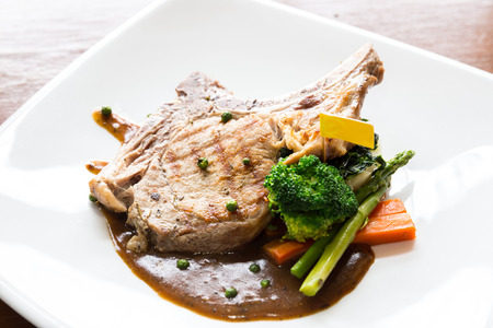 entree: Gourmet Main Entree Course grilled pork chop