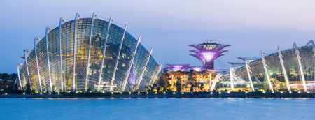 Panorama of Singapore Garden by the bay