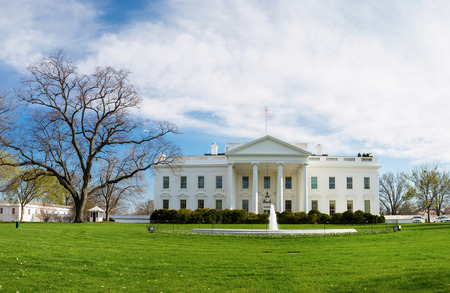 washington landscape: The White House Washington DC, United States
