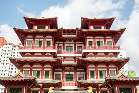 chinese buddha: Architecture of Singapore buddha tooth relic temple Editorial