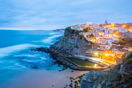 Azenhas do Mar village at dusk, Sintra Portugal