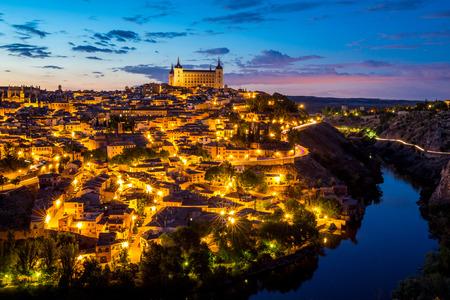 Toledo Cityscape at dusk Spain photo