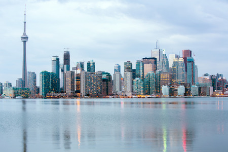 toronto: Toronto Skyline at dusk, Ontario, Canada