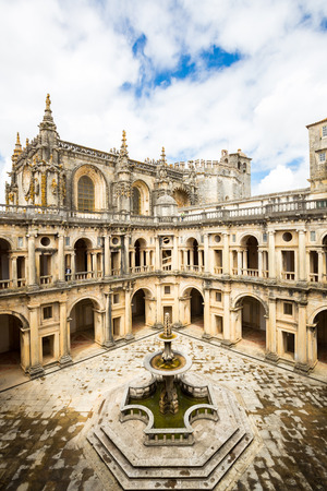 knights templar: Knights of the Templar Convents of Christ Tomar, Lisbon Portugal Stock Photo