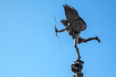 piccadilly: Eros Cupid statue of Piccadilly Circus, London England UK Stock Photo