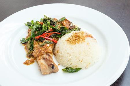 karaj: grillezett karaj Basil rizzsel