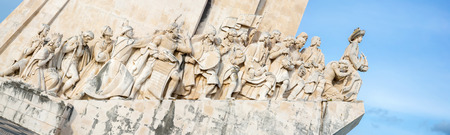 discoveries: Panorama of monument to the discoveries Lisbon Portugal Editorial
