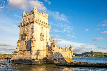 torre: Tower of Belem  Torre de Belem , Lisbon, Portugal