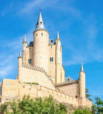 The Alcazar of Segovia is a stone fortification, located in the old city of Segovia, Spain