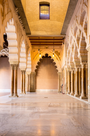 Corridor of aljaferia alcazar of Zaragoza Spain Stock Photo - 29923169
