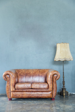 desk lamp: classical style Armchair sofa couch in vintage room with desk lamp