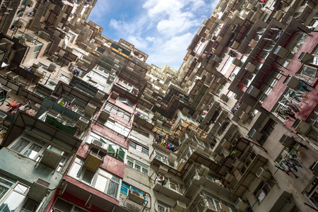 Hong Kong Residential flat Building Skyline photo