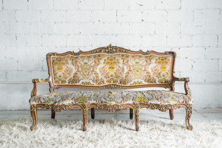 Vintage classical style Sofa bed photo