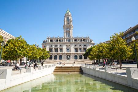 City hall of Porto on Avenida dos Aliados Portugal photo