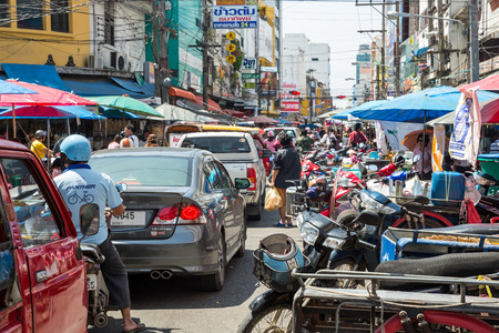 southern thailand: HAT YAI, SONGKHLA, THAILAND - SEP 20 : Unidentified tourists are shopping at Kim Yong market Hat Yai southern of Thailand. Kim Yong Market is a local market in the downtown of Hat Yai city.