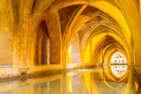 alcazar: Royal Bathroom in Alcazar of Sevilla, Seville Spain