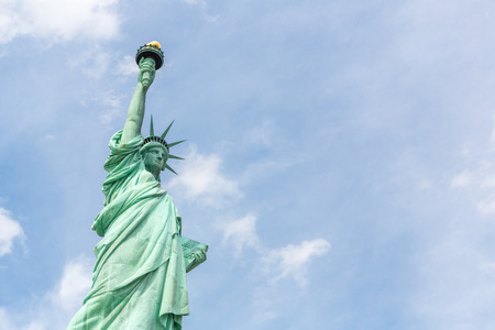 liberty island: The Statue of Liberty in New York City USA